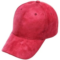 Mad Style Wine Faux Suede Baseball Hat