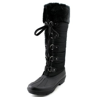 Dirty Laundry Blackfrost Women Round Toe Canvas Black Winter Boot