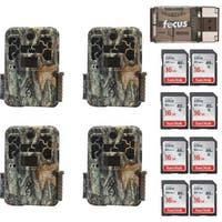 Browning Recon Force Advantage Trail Camera (4) with Reader and 16GB Card (8) - Camouflage