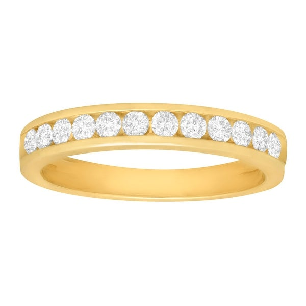 1/2 ct Diamond Anniversary Band in 10K Gold