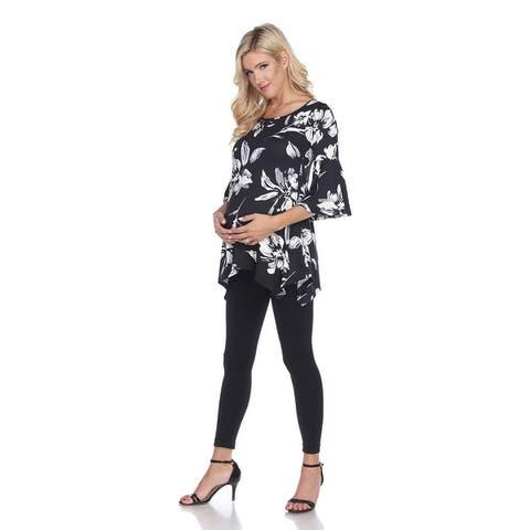 Maternity Roche Tunic Top - Black Us Sizes (S-4Xl)