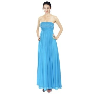 Aidan Mattox Silk Chiffon Beaded Sequins Eve Gown Dress