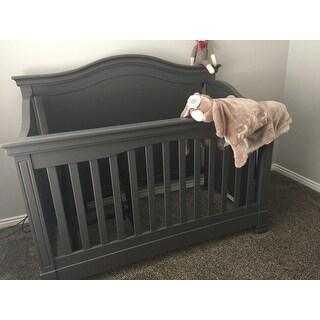 Million Dollar Baby Classic Louis 4-in-1 Convertible Crib with Toddler Bed Conversion Kit