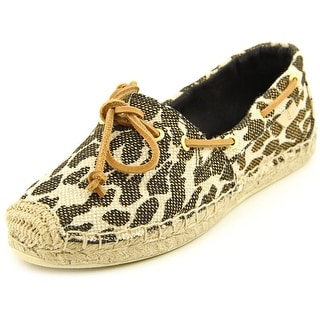 Sperry Top Sider Katama Women Round Toe Canvas Tan Espadrille