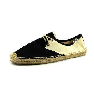 Soludos Colorblock Women Round Toe Canvas Black Oxford
