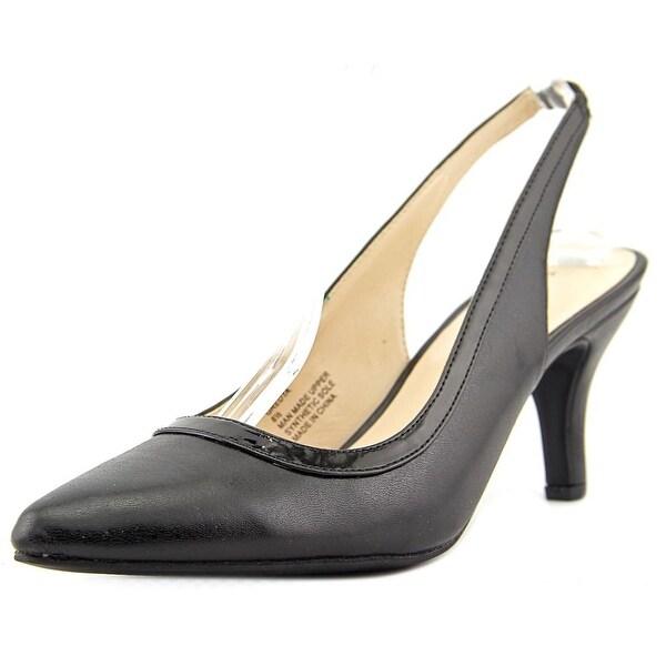 Karen Scott Gredta Women Pointed Toe Synthetic Black Slingback Heel