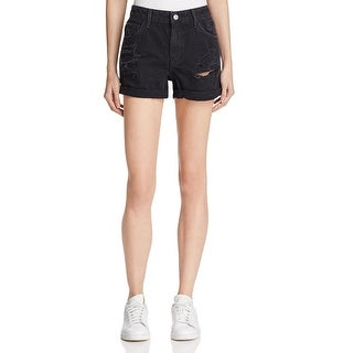 Guess Womens Denim Shorts Denim Destroyed