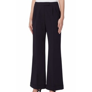 Tahari By ASL NEW Blue Navy Flared Trousers Women's Size 4 Dress Pants