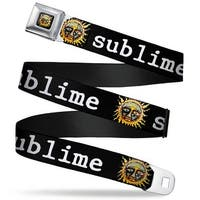 Sublime Sun Logo Full Color Sublime Sun Black White Webbing Seatbelt Belt Seatbelt Belt