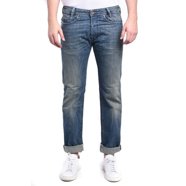 Diesel Iakop Men's Regular Slim-Tapered Denim Jeans 0R4S4