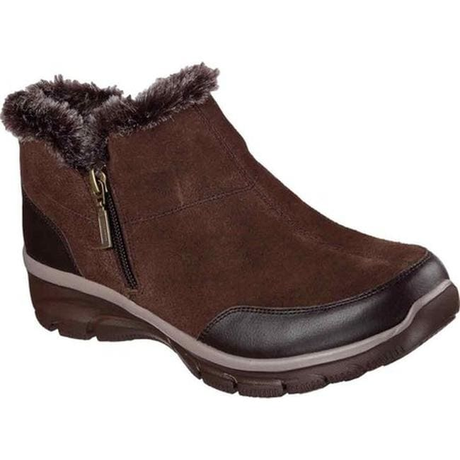 c9107a7bd132 Skechers Women  x27 s Relaxed Fit Easy Going Zip It Cold Weather Bootie  Chocolate