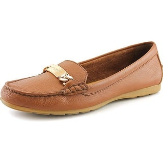 Coach Olive Women Round Toe Leather Brown Loafer
