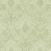 Brewster MEA79073 Essex Green Lacey Damask Wallpaper - green lacey damask - N/A