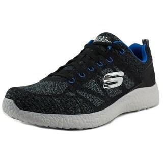 Skechers Energy Burst-Deal Closer Men Round Toe Canvas Black Sneakers