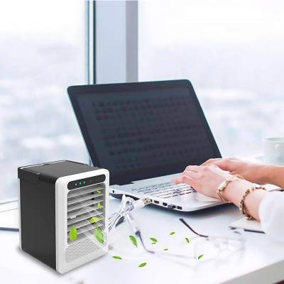 3 in 1 Portable Air Conditioner Fan Air Cooler Humidifier Purifier Desktop Cooling Fan Table Mini Cooler