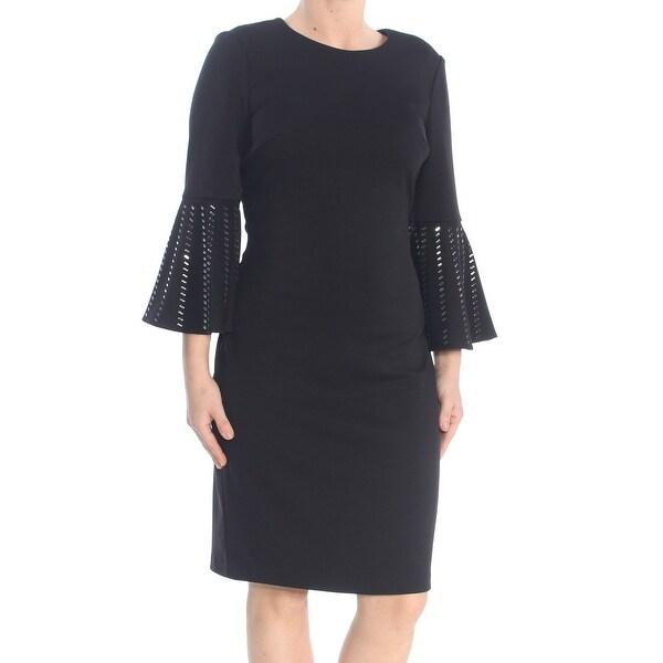 Shop Calvin Klein Womens Black Embellished Tribal Bell
