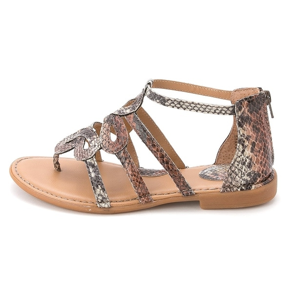 Born Womens SIGRID Split Toe Casual Gladiator Sandals