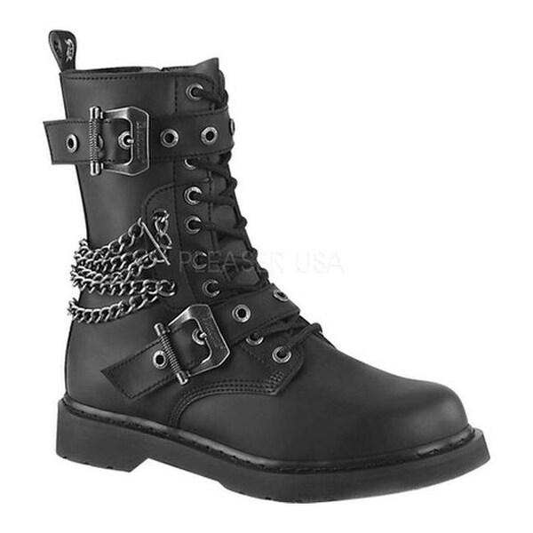 c9a7de694aa Shop Demonia Men s Bolt 250 Combat Boot Black Vegan Leather - Free Shipping  Today - Overstock - 25750904