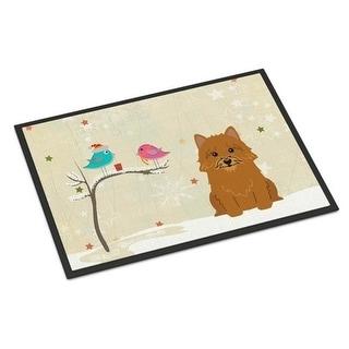 Carolines Treasures BB2492JMAT Christmas Presents Between Friends Norwich Terrier Indoor or Outdoor Mat 24 x 0.25 x 36 in.