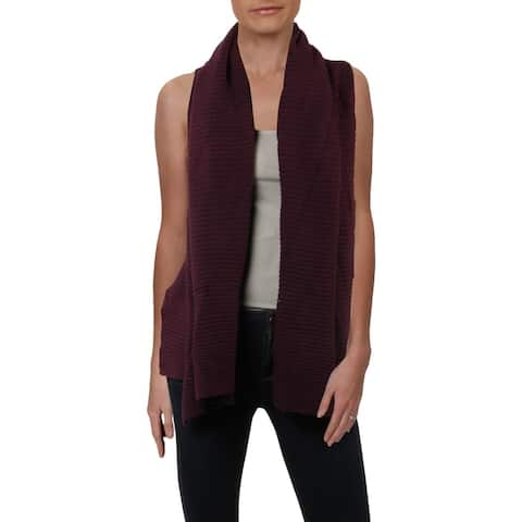 Donna Karan Womens Sweater Vest Ribbed Cozy - XS/S