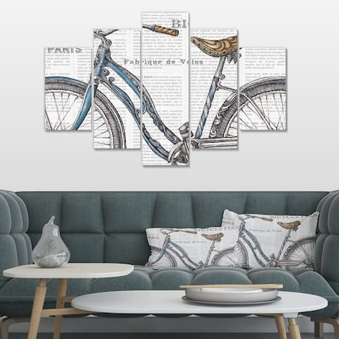 Designart 'Paris France Bicycles II' French Country Canvas Art