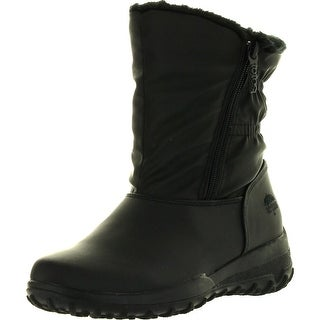Totes Womens Rikki Winter Waterproof Snow Boots - Black