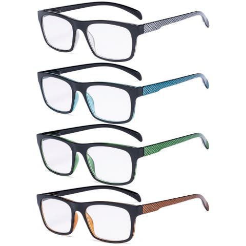 Eyekepper 4 Pack Reading Glasses - Pattern Design Readers