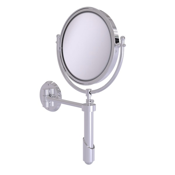 Allied Brass Soho Collection Wall Mounted Make-Up Mirror 8-in Diameter with 3X Magnification