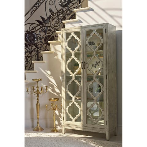 Leslie Antique White 2-door Cabinet