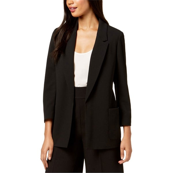 Nine West Womens Open Front Blazer Jacket, Black, Medium. Opens flyout.