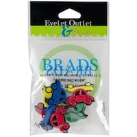Eyelet Outlet Shape Brads 12/Pkg-Cars
