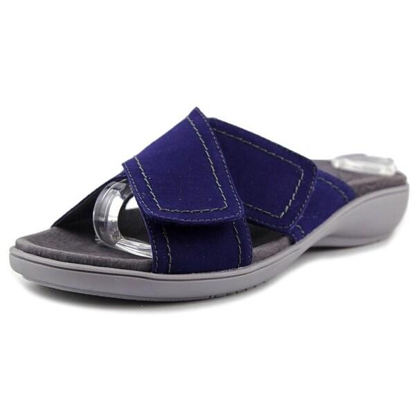 Trotters Getty Women Open Toe Canvas Slides Sandal