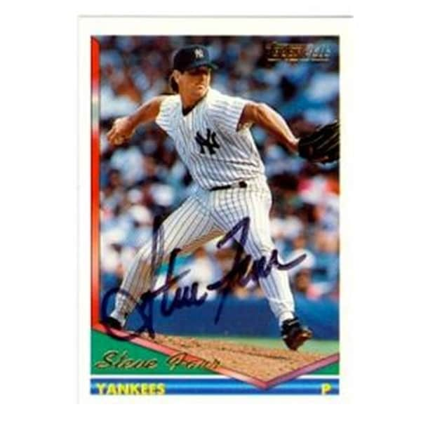 459d0f833 Shop Steve Farr Autographed Baseball Card New York Yankees 1994 Topps N -  Free Shipping On Orders Over  45 - Overstock - 23890130