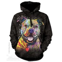 The Mountain Cotton Beware Of Pitbulls Adult Hoodie Jacket