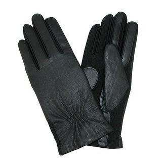 Isotoner Women's Leather SmarTouch Winter Gloves - Black - large / xlarge