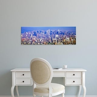 Easy Art Prints Panoramic Image 'Aerial view of a cityscape, Manhattan, New York City, New York State, USA' Canvas Art