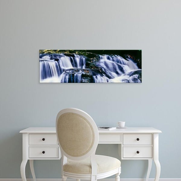Easy Art Prints Panoramic Images's 'View of waterfall, Inversnaid Falls, Inversnaid, Loch Lomond, Scotland' Canvas Art