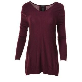 Only Mine Womens Colorblock Sharkbite Hem Tunic Sweater - M