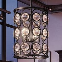 """Luxury Art Deco Chandelier, 23""""H x 16""""W, with Transitional Style, Whimsical Design, Black Silk Finish"""