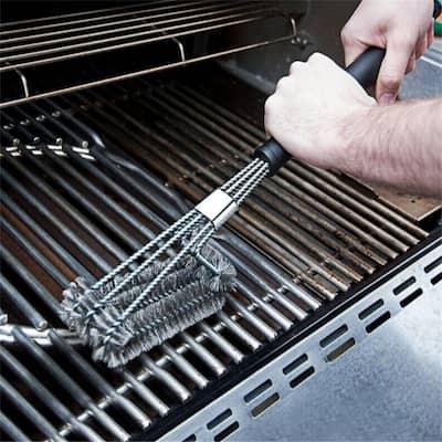 BBQ Barbecue Brush, 18 inch Three Wire Oven Brush Grill Brush