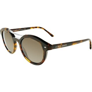 Giorgio Armani AR8007-501153-46 Brown Oval Sunglasses