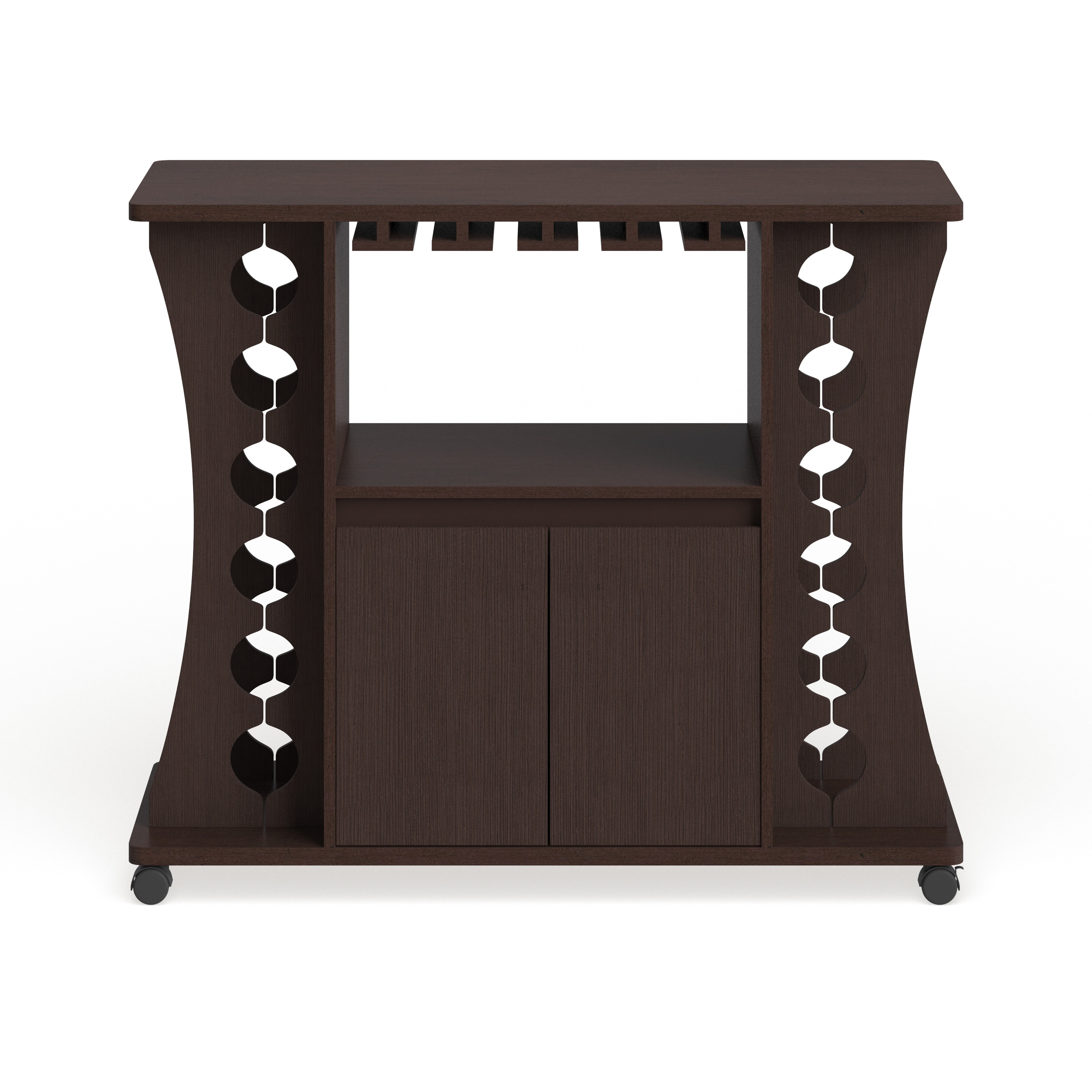 Shop Black Friday Deals On Furniture Of America Modern Espresso Buffet With Wine Rack Overstock 20254960