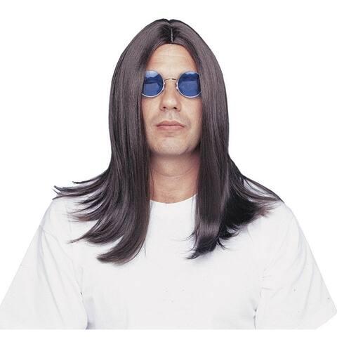 Deluxe Ozzy Osbourne Black Sabbath Long Costume Wig - Standard - One Size