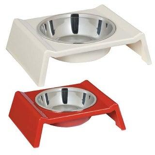 Zack and Zoey Retro Raised Melamine Dog Bowl - 6oz Tomato