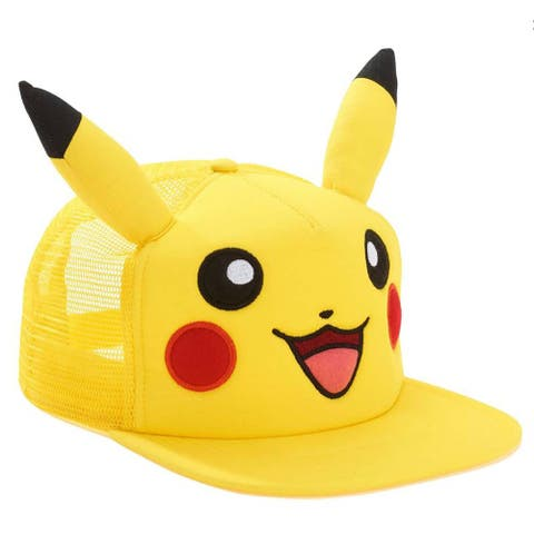 Pokemon Pikachu Big Face with Ears Snapback Hat