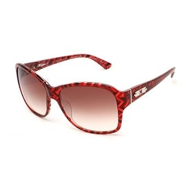 Missoni Women's Striped Oversized Sunglasses Red - Small