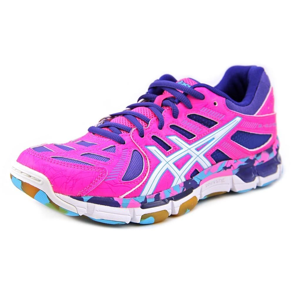 Asics Gel Volleycross Revolution Mt Women Knockout PinklWhiteElectric Blue Cross Training Shoes