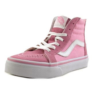 Vans Sk8-Hi Zip Round Toe Canvas Sneakers|https://ak1.ostkcdn.com/images/products/is/images/direct/e44bb3ecb386bc85cdc34a88bfd55fa232af613a/Vans-Sk8-Hi-Zip-Youth-Round-Toe-Canvas-Pink-Sneakers.jpg?impolicy=medium