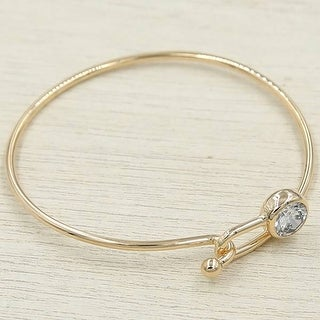 Mad Style Rose Gold Crystal Loop Bracelet