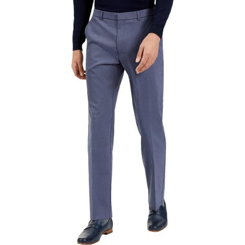 Tommy Hilfiger Mens Dress Pants Minicheck Office - Navy/White